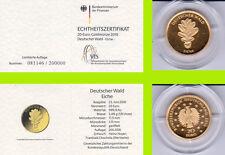 """2010 - 20 EURO - Deutscher Wald - Eiche - Buchstabe """"D"""" - GOLD"""