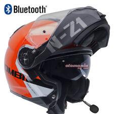 Casco de moto modular NZI COMBI 2 Duo Flydeck Naranja/N.Mate Bluetooth integrado