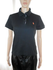 Ralph Lauren Vtg Summer Black Cotton Classic Mod Small Pony Polo Shirt sz S AE89