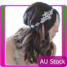 Deco Pearl Bridal Jewellery Hairband 20s Flapper Headpiece Gatsby Downton Boho