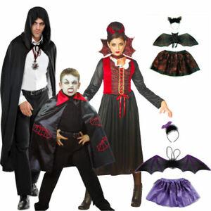 Vampir Graf Dracula Fledermaus Umhang Kleid Flügel Kostüm Horror Hexenmeister