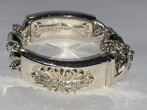 Mens Silver Diamond Bracelet