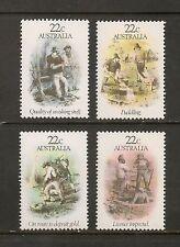 Australia #780-783 VF MNH - 1981 22c to 22c Gold Rush Era - Art Sketches