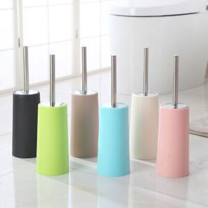 Toilet Brush Holder Set Stainless Steel Household Cleaning Supplies Standing