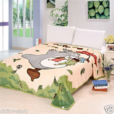 Double Layer Totoro Soft Comfy Anime Plush Throw Blanket Quilt 200cm*230cm Gift