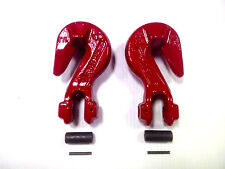 "(2) 3/8"" Grade 80 Clevis Grab Hooks with Saddle - WLL 7,100 Lbs. - Made in Italy"