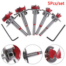 15-35MM Woodworking Hole Opener HingeHole Saw Drill Bit+2pc Hex Wrench Cutter UK