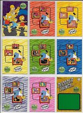 The Simpsons 10th Anniversary - Complete Trading Card SET(81+T1) 2000 - NM