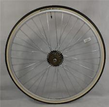 "27"" x 1 1/4 REAR Bike Wheel + Premium White Wall Tyre & 6 Speed FreeWheel"