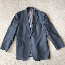 Brooks Brothers Regent Fit Grey Windowpane Sports Jacket Men Size 46R Wool EUC