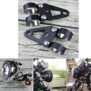 2Pcs Motorcycle Dirt Bike 41mm Fork Headlight Turn Signal Light Mount Bracket