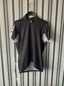 ASSOS Mens Full Zip Black Short Sleeve Cycling Jersey Size XL
