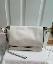 ZARA WHITE CITY BAG WITH ZIP AND PULL TAB REF. 4446/204 NWT!!!