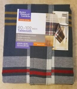 "New Better & Gardens Limited Edition Farmhouse Plaid Tablecloth 60""x102"" Rectang"
