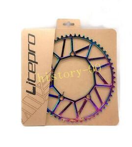 1 piece Litepro Folding Road Bike Narrow Wide single Chainring BCD 130mm 46-58T