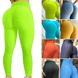 Scrunch High Waist Yoga Leggings Women Anti Cellulite Sports Tight Pants Fitness