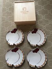 Pottery Barn Gobble Turkey Plates -Set of 4 - 7 Inch Salad/ Dessert Plates