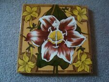 Charming antique Lily ceramic tile   21/387Y