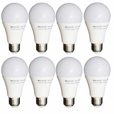 LOT OF X 8 ~ Opto LED Light Bulbs A19, 10 Watt 60-Watt Equivalent LED Lights,