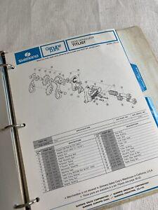 Nice! Vintage 1976 Dealers Parts Manual For Shimano