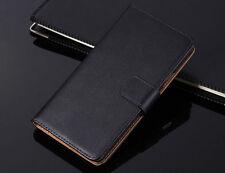 Genuine Leather Wallet Flip Case Cover For Microsoft / Nokia Lumia Model
