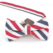 Red White and Blue Mens Bow Tie/ British Flag Bow Tie