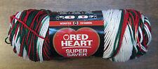 New Red Heart Christmas Super Saver Yarn 5 oz 236 Yd Ea Mistletoe Planned Pool