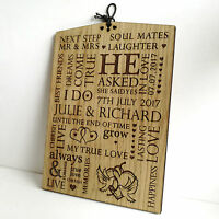 Personalised Engagement Gift - Oak Wooden Plaque Sign