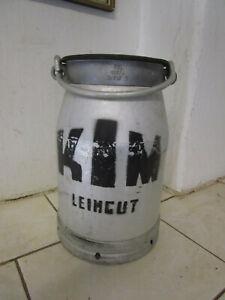 "Kleine Milchkanne Deckel 10l DDR ""impulsa KIM Alu-kanne Aluminium Vase Deko 36cm"