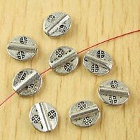 8pcs tibetan silver color 2sided Flower-de-luce spacer beads EF0378