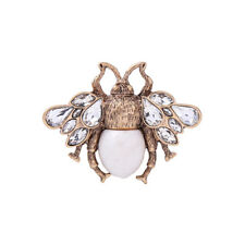 Resin Alloy Bee Insect Brooch Pin ts00197-2 2018 New Jewelry Antique White
