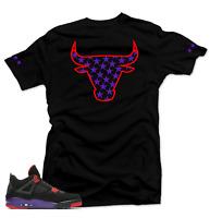 Shirt to Match Air Jordan 4 NRG Raptors sneakers.Stars Black Tee