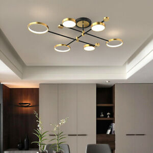Gold Pendant Light Large Chandelier Lighting Modern Ceiling Lamp Kitchen Lights