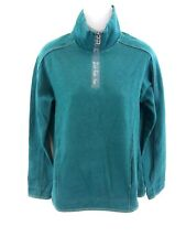 FAT FACE Womens Jumper Sweater 10 Green Cotton & Polyester 1/4 Zip