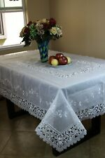 Grant Linen Embroidered Tablecloth