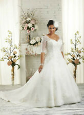 New Plus Size White/Ivory Bridal Gown Beaded Wedding Dress Stock Size:14---26+++