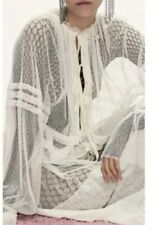 Lee Mathews White Molly Tulle Dress Size 1 XS-S Brand New With Tags!