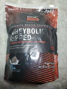 GNC AMP WHEYBOLIC RIPPED ADVANCED MUSCLE PERFORMANCE  COOKIES AND CREAM  09/22