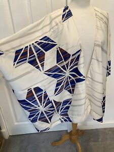 Topshop Kimono Geometric Beach Cover Up Top Shawl Over Garment S 8 10 12 14