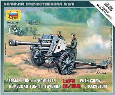 DRAGON 1/72 SCALE ZVEZDA MODEL KIT GERMAN LFH-18 HOWITZER w/CREW