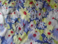 tissu ancien tafeta motifs fleur 91x 50 ruban @