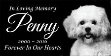 Pet Stone Memorial Headstone 6x12 Cat Dog human grave marker tombstone Poodle