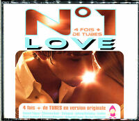 N°1 LOVE - 4 FOIS + DE TUBES EN VERSION ORIGINALE - 4 CD COMPILATION