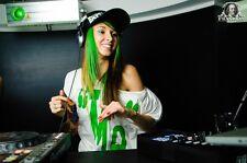 Encadrée Imprimer-DJ Mlle Monique (photo electro house minimal Drum 'n' Bass art)