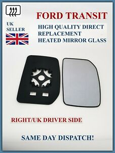 FOR FORD TRANSIT MK7 2006-2014 DOOR WING MIRROR GLASS RIGHT DRIVER SIDE HEATED
