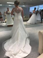 Alfred Angelo Wedding Dress , White with lace, size 12 , new-only tried on