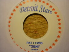 northern soul pat lewis geni/loves creepin detroit stars re usa mint deleted 45