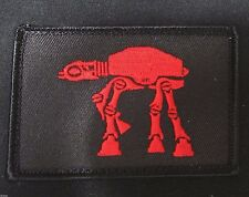 STAR WARS IMPERIAL WALKER MORALE BADGE OPS RED VELCRO® BRAND FASTENER PATCH