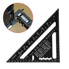 7'' Aluminum Square Ruler Tool Measurement Measuring Ruler Carpenter Woodworking