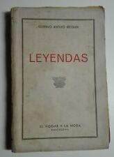 Gustavo Adolfo Bécquer. Leyendas. El Hogar y la moda (Barcelona)